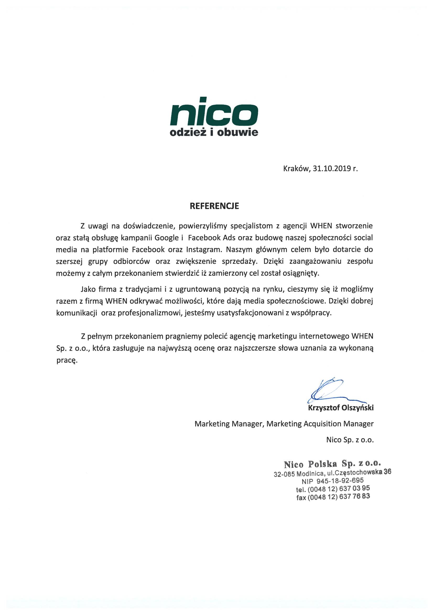 Nico – odzież i obuwie